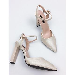 Giày cao gót sanh chảnh trụ 10cm kim tuyến GXK019