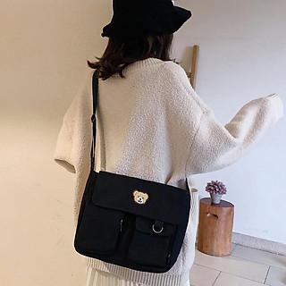 Túi nữ đeo chéo nhiều ngăn cá tính, năng động - Hàng chính hãng