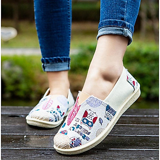 Giày lười nữ êm chân thoáng khí thời trang mới nhất V228