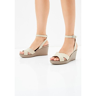 Giày Sandals Nữ Crocs Leigh II Ankle Strap Wedge 204950