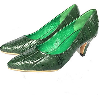 Giày cao gót nữ da cá sấu 3