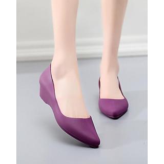 Giày Búp Bê Mũi Nhọn Nữ Nhựa Cao Cấp Nhẹ Êm Chân 3fashion - 3201