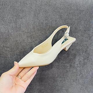 [ Shop giày somina ] Sandal mũi xẻ tim, gót tam giác 3cm MT3078