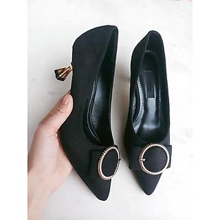 giày cao 6 phân mũi nhọn