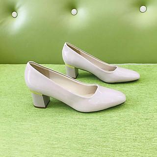 [ Shop giày somina ] Giày VIP gót viền đồng 5cm MT040