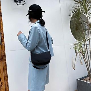 Túi nylon xách tay chống thấm nước quai đeo phối dây mắt xích cho nữ