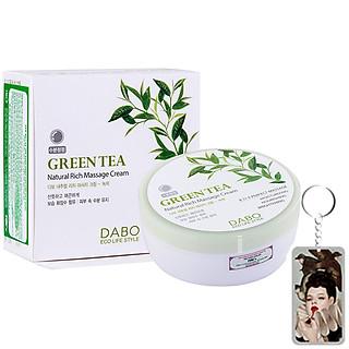 Kem massage mặt và toàn thân làm trắng, tái tạo da trà xanh Dabo Hàn Quốc 200ml + Móc khoá