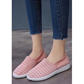 Giày Slip-On Nữ 3Fashion Shop Vải Len Móc Chắc Chắn Lạ Mắt - 3165