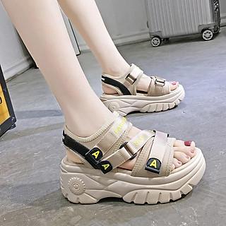 Sandal nữ độn đế quai chéo siêu hot