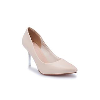 Giày cao gót cổ điển 9P, gót nhọn Mica trong suốt êm chân thương hiệu PABNO PN404