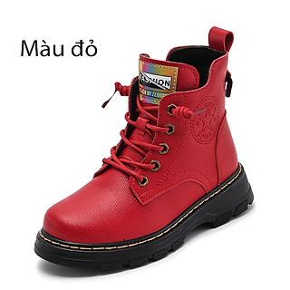 Giày cao cổ da bò cho học sinh nam nữ mẫu 2021 mới phiên bản Hàn Quốc mã 2067