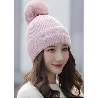 Mũ Len Nữ Trùm Tai Lót Lông Phong Cách Hàn Quốc Dễ Thương