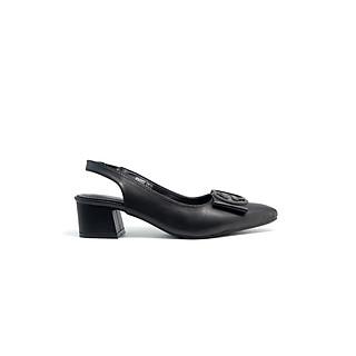 Giày cao gót 5p dáng Slingback phối nơ vuông siêu xinh PABNO PN16002