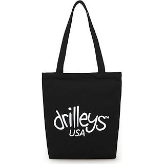 Túi đeo chéo, túi đeo vai vải Canvas nữ in chữ Drilley