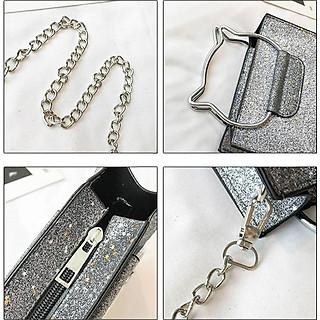 Túi đeo chéo nữ mèo lấp lánh (2 món) 119-122