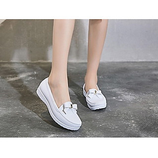 Giày mọi nữ đế cao su mềm cao 2p