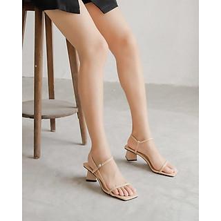 Giày Sandals Cao Gót Quai Mảnh Ngang Đế Hình Thoi Cao 5 Phân Lithes N124 Nhiều màu