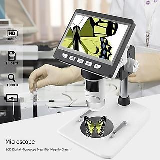 Kính hiển vi thông dụng màn hình điện tử  4.3inch dùng để quan sát các vật thể có kích thước nhỏ bé cao cấp 1000x ( Tặng kèm la bàn mini chỉ hướng bằng thép không gỉ )