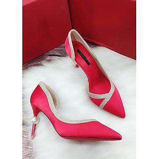 Giày cao gót bít mũi, cao 8cm,  gót cực kỳ đẹp MT109