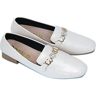 Giày lười nữ loafer mũi vuông đế cao 3P Rozalo R5912