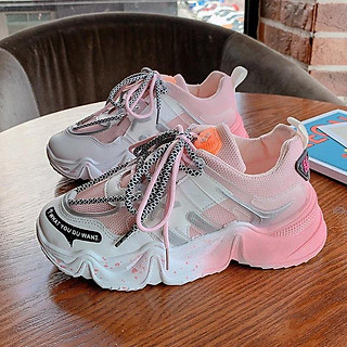 Giày nữ Giày sneaker nữ Giày Thể Thao Nữ Đế Độn Pha Màu Siêu Đẹp