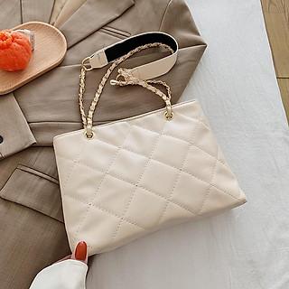 Túi đeo chéo Nữ Đẹp (Túi Xách) Thời Trang Hình Thoi Thêu Chuỗi Chỉ Phối Quai Xách Đan Xích  - Mã XT004