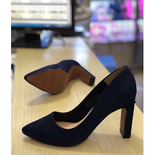 giày cao gót da lộn 7cm