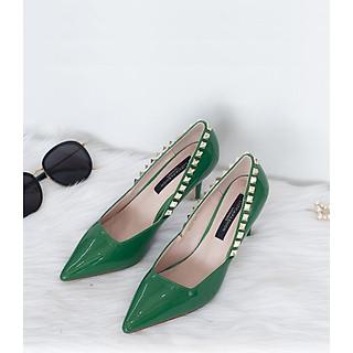 Giày Cao Gót Mũi Nhọn Đính Hạt Siêu Đẹp