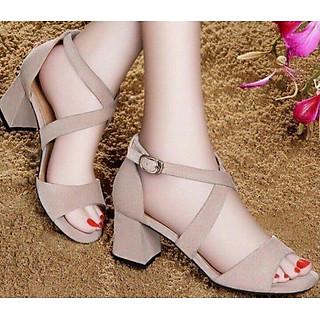 Giày sandal cáo gót quai chéo G1270