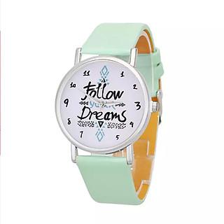 Đồng hồ bé gái Follow your dreams dây da cá tính – DH003