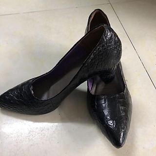 Giày cao gót nữ da cá sấu 8