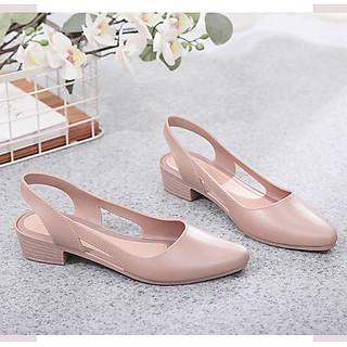 Dép sandal nữ đi mưa cao 3.5p nhiều màu mới nhất 241