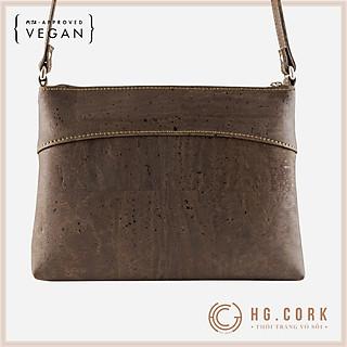Túi Đeo Chéo Nữ Cao Cấp - CROSSBODY PURSE - HGcork Corkor CK158 - Vật liệu da cork thực vật thuần chay - Sản phẩm Handmade, Sản xuất tại Bồ Đào Nha