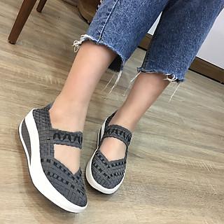 Giày thể thao nữ Thái Lan đế xuồng chuyên dụng đi bộ siêu nhẹ siêu bền siêu êm chân F7159Grey, màu sắc thời trang trẻ trung, không ngại mưa nắng, đi mưa rửa nước thoải mái, đi mòn hết đế chưa hỏng giày - giày dép Thái Lan