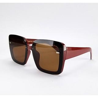 Mắt kính nữ râm thời trang 9909DKYDO, tròng Polarized màu nâu đỏ phân cực không vỡ, chống nắng, chống tia UV
