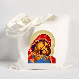Túi Vải Đeo Vai Tote Bag In Hình Thiên Chúa - Mẫu007