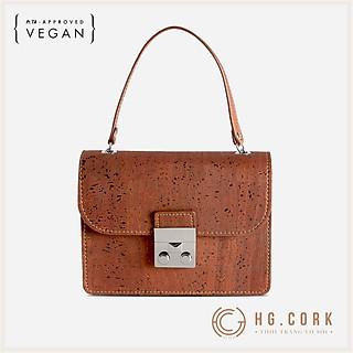 Túi Đeo Chéo Nữ Cao Cấp Mini CROSS-BODY BAG - HGcork Corkor CK247 - Vật liệu da cork thực vật thuần chay - Sản phẩm Handmade, Sản xuất tại Bồ Đào Nha