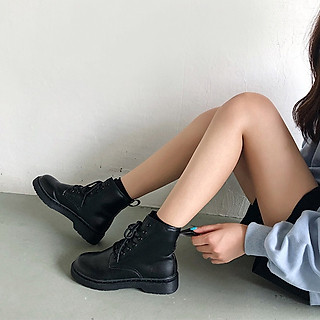 Giày bốt cao cổ Ulzzang Quảng Châu GBC1