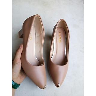 giày cao 5 phân mũi bọc