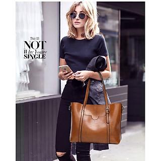 Túi xách nữ thời trang cao cấp thiết kế theo phong Vitage cổ điển, sang trọng với sức chứa siêu khủng