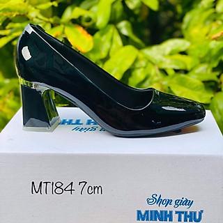 [ Shop giày somina ] Giày mũi vuông, gót mika 7cm MT184