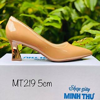 [ Shop giày somina ] Cao gót 5cm ốp đồng MT219