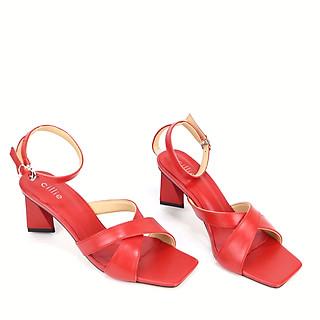 Giày sandal nữ quai chéo gót trụ cao 6cm Cillie 1208