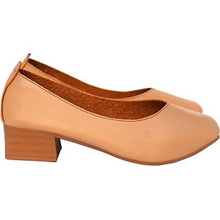 Giày búp bê nữ da mềm mũi vuông Rozalo R5651