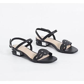 Sandal Pixie 3cm Mũi Vuông Quai Mảnh Cắt Laze X459