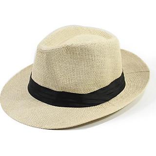 Mũ cói đi biển panama fedora cao bồi cowboy unisex