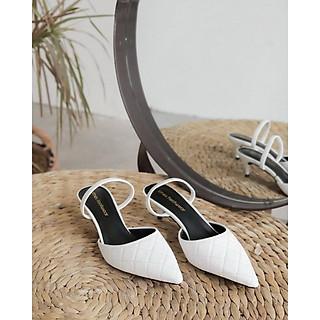 Giày cao gót mũi nhọn đế nhọn cao 3 phân dập chỉ Lithes N123 Nhiều màu