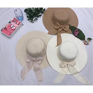 Mũ cói, nón rộng vành, nón nữ che nắng, nón đi biển thời trang, phụ kiện chụp ảnh selfie - có thắt nơ tiểu thư xinh xắn, thuận tiện gấp gọn để balo, 3 màu tự chọn