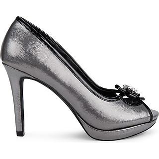 Giày cao gót hở mũi phối nơ đính đá - Sablanca 5050HM0007