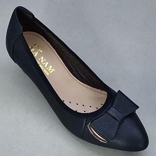 Giày nữ đế xuồng da bò thật đế Cao cấp GBB2030